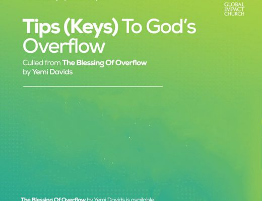 10 Tips (Keys) To God's Overflow